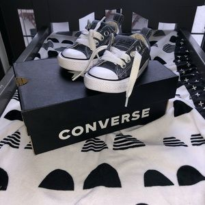 Gently used denim Converse, box included!